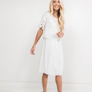 Lace detailed midi dress